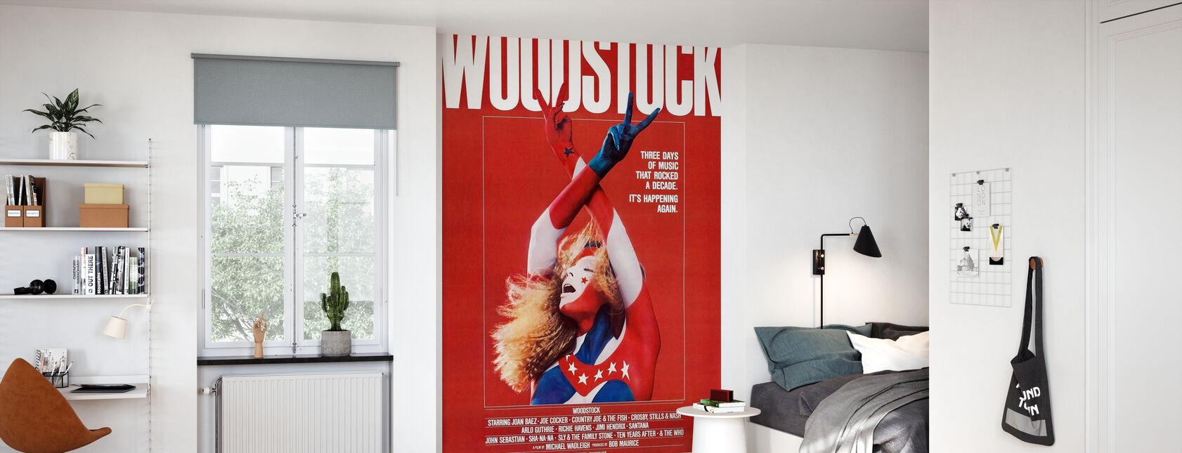 Woodstock affisch konst - Tapet - Barnrum