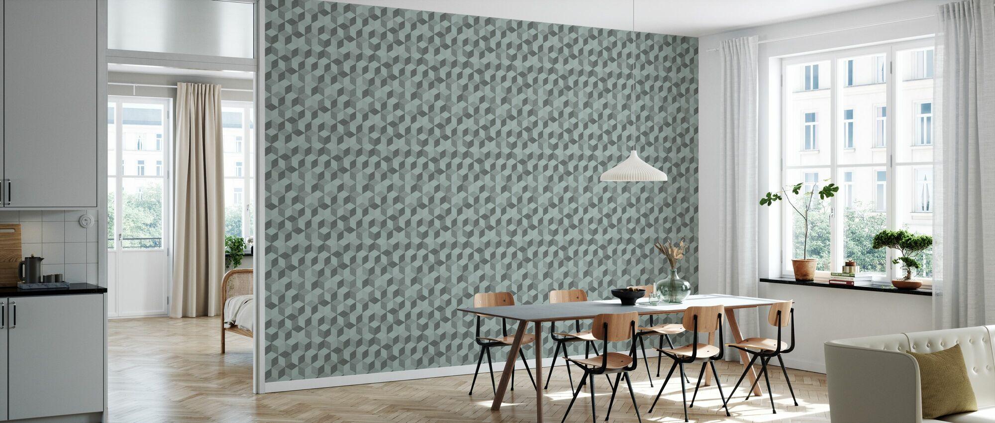 Hexagon Mint - Wallpaper - Kitchen