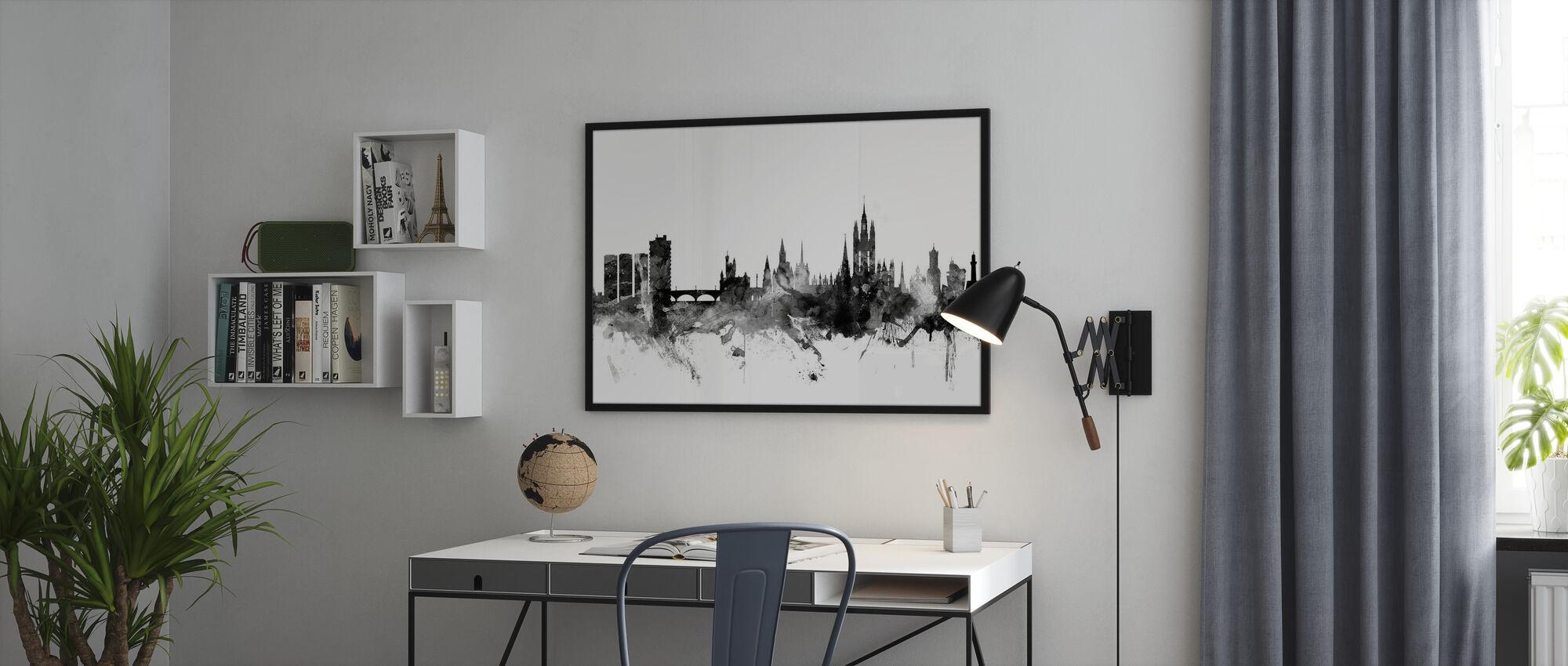 Aberdeen Scotland Skyline Black - Poster - Office