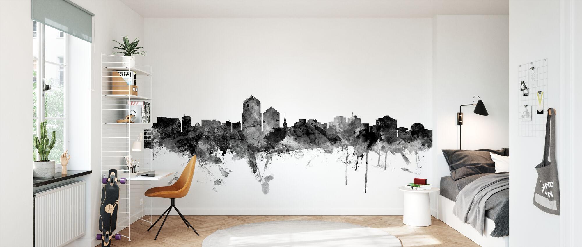 Albuquerque New Mexico Skyline Black - Wallpaper - Kids Room