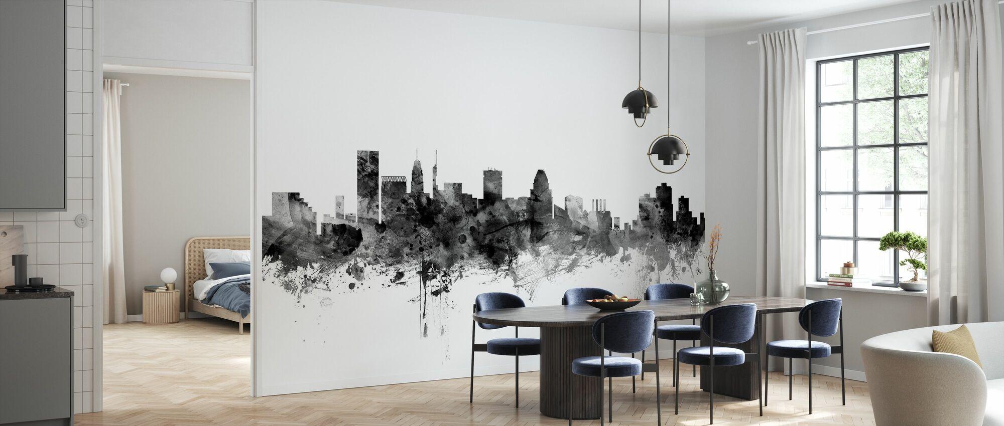 Baltimore Maryland Skyline Black - Wallpaper - Kitchen