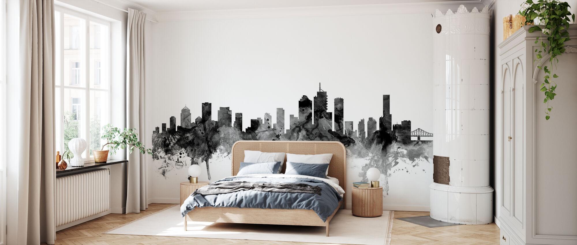Brisbane Australia Skyline Noir - Papier peint - Chambre
