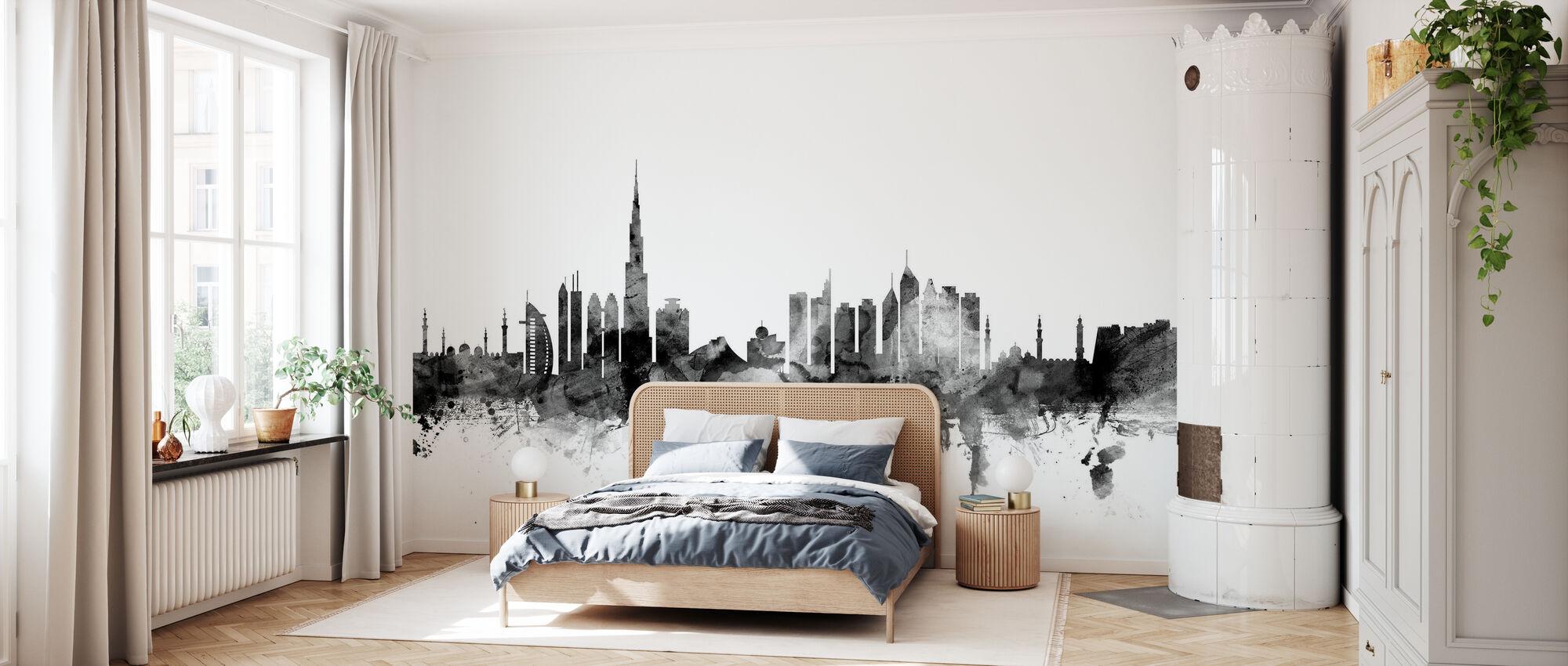 Dubai Skyline Black – a wall mural for ...