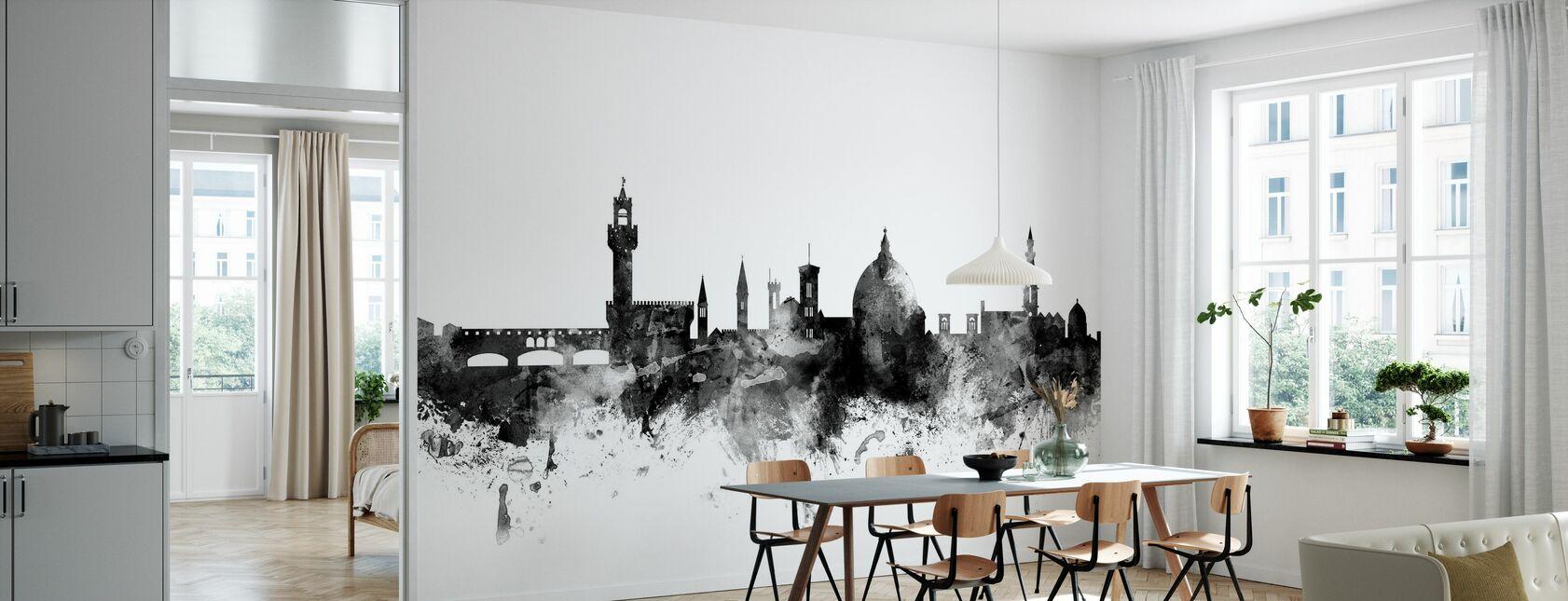 Florence Italië Skyline Zwart - Behang - Keuken