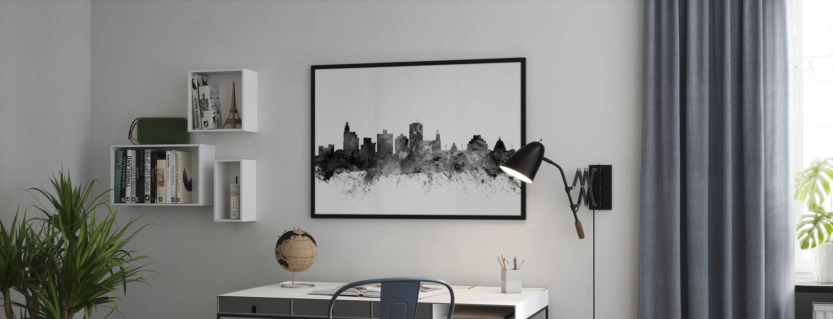 Jackson Mississippi Skyline Black - Poster - Office