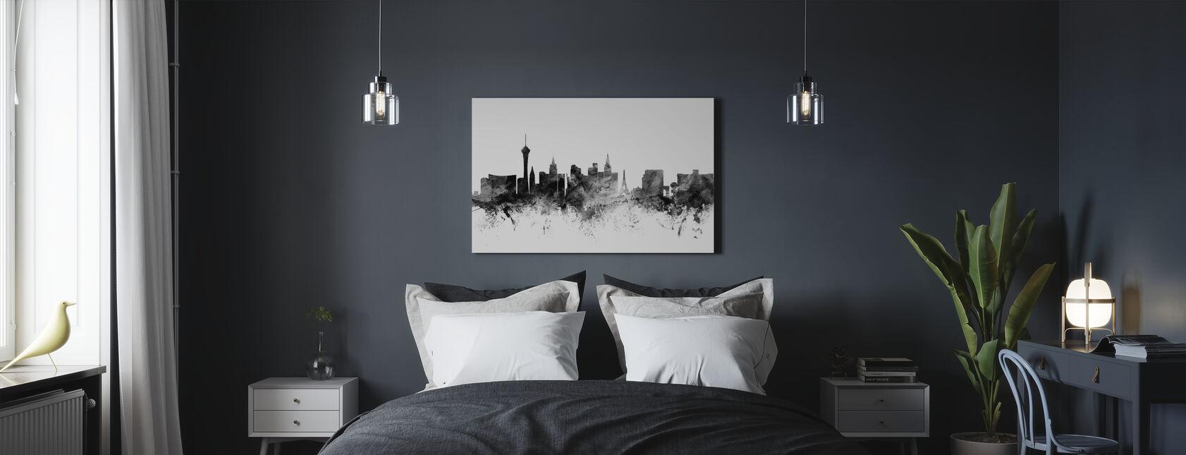 Las Vegas Skyline Black - Canvas print - Bedroom