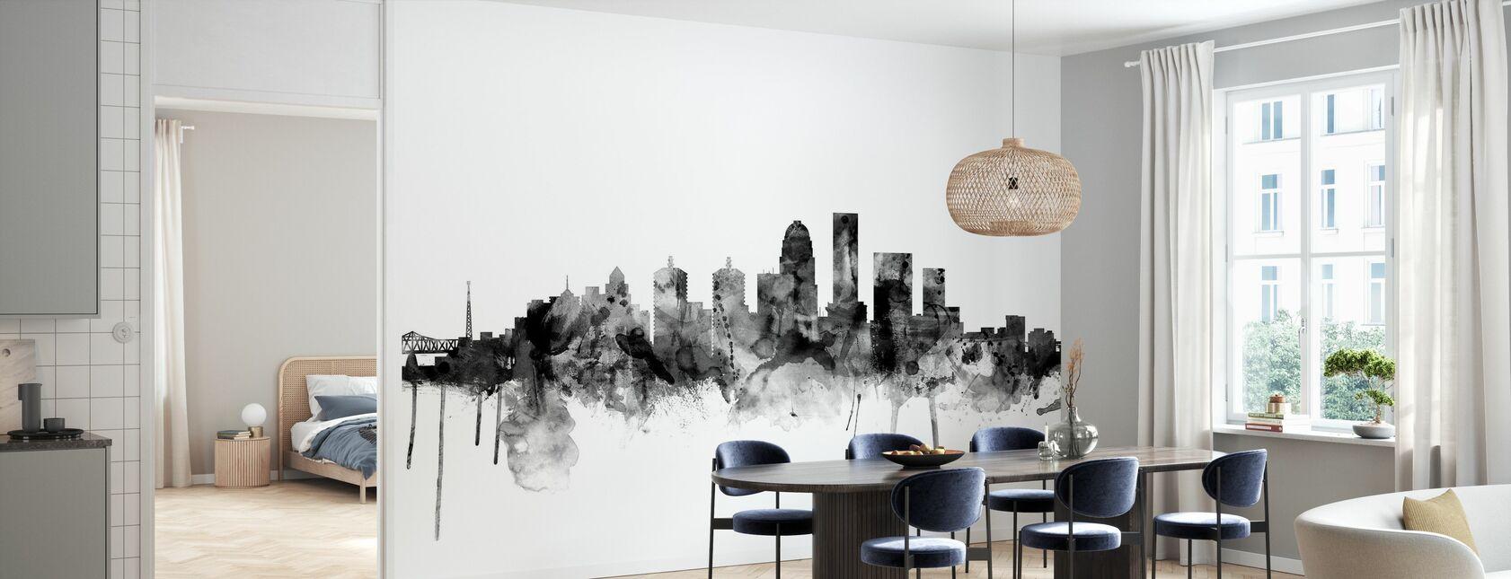 Louisville Kentucky Skyline Black - Wallpaper - Kitchen