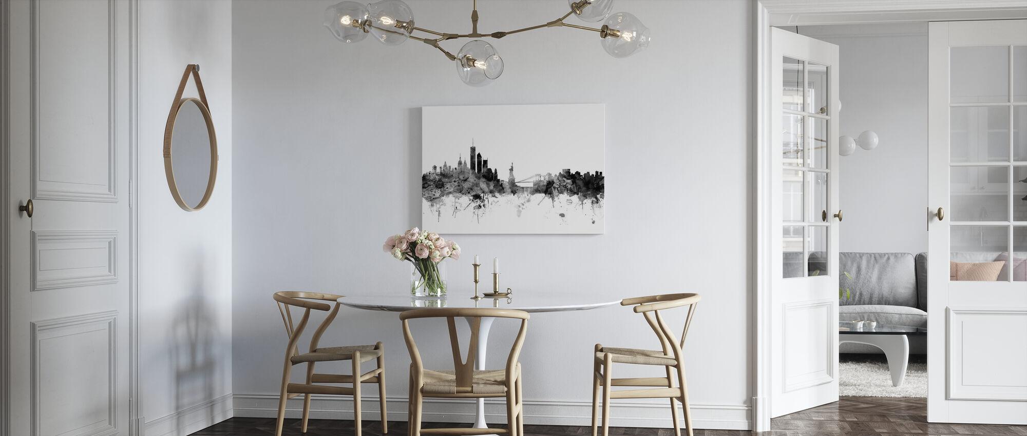 New York Skyline Schwarz - Leinwandbild - Küchen