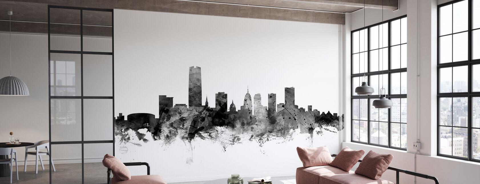 Oklahoma City Skyline Black - Wallpaper - Office