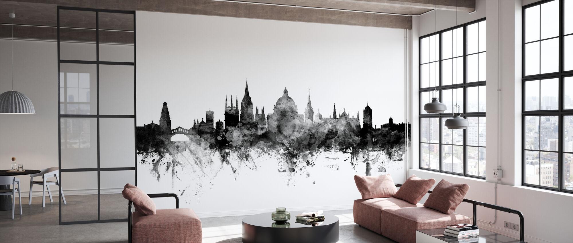 Oxford UK Skyline Black - Wallpaper - Office