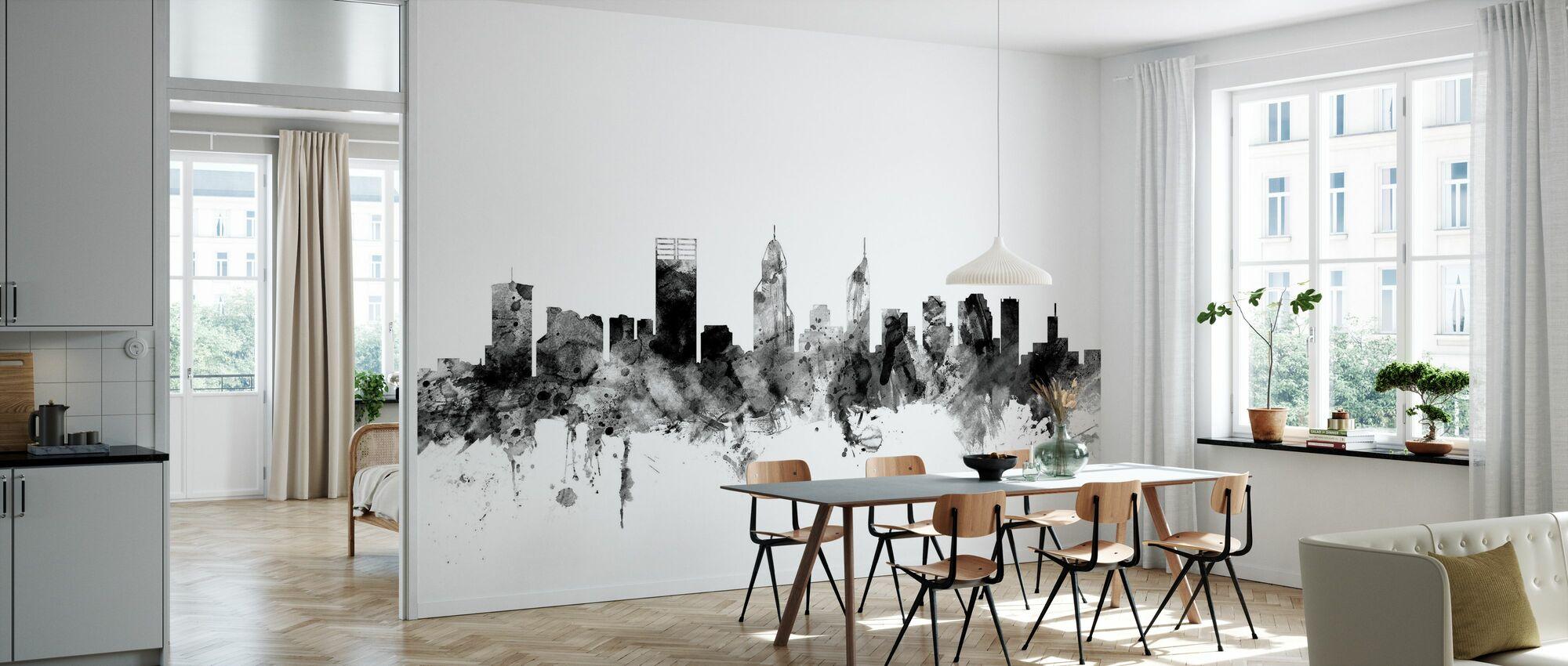 Perth Australia Skyline Black - Wallpaper - Kitchen