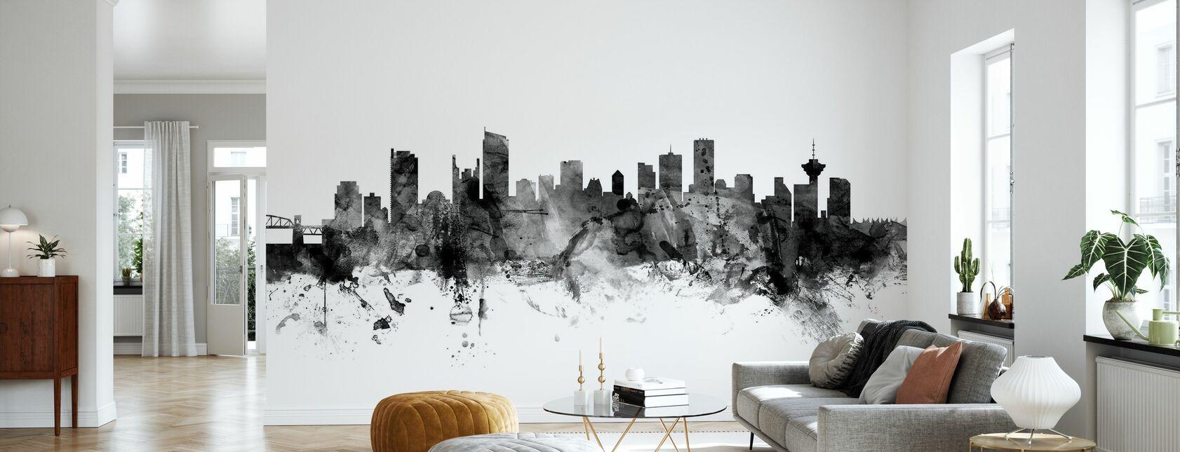 Vancouver Skyline Black - Wallpaper - Living Room