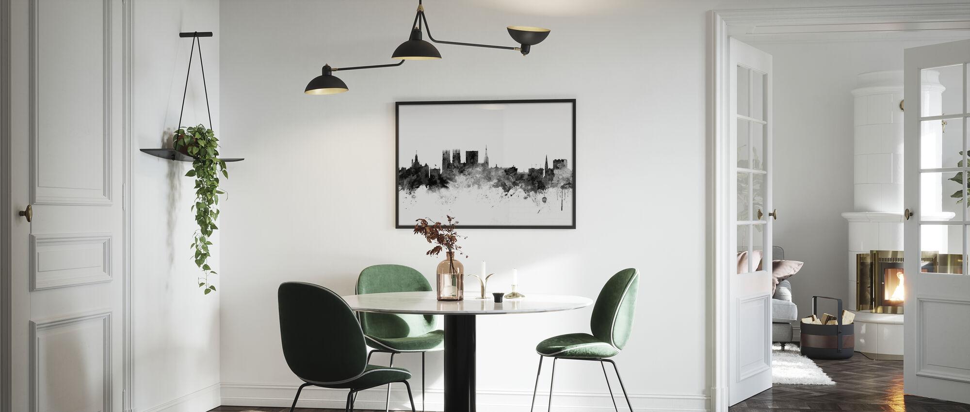 York UK Skyline Black - Framed print - Kitchen