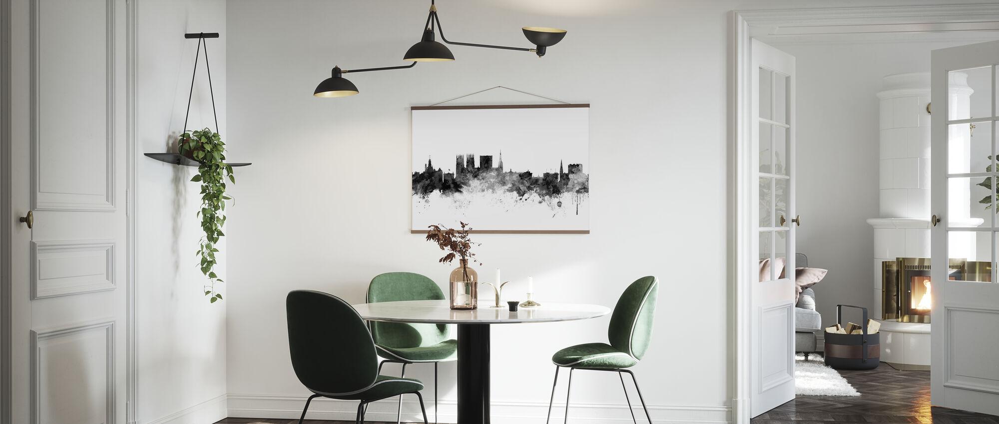 York UK Skyline Black - Poster - Kitchen