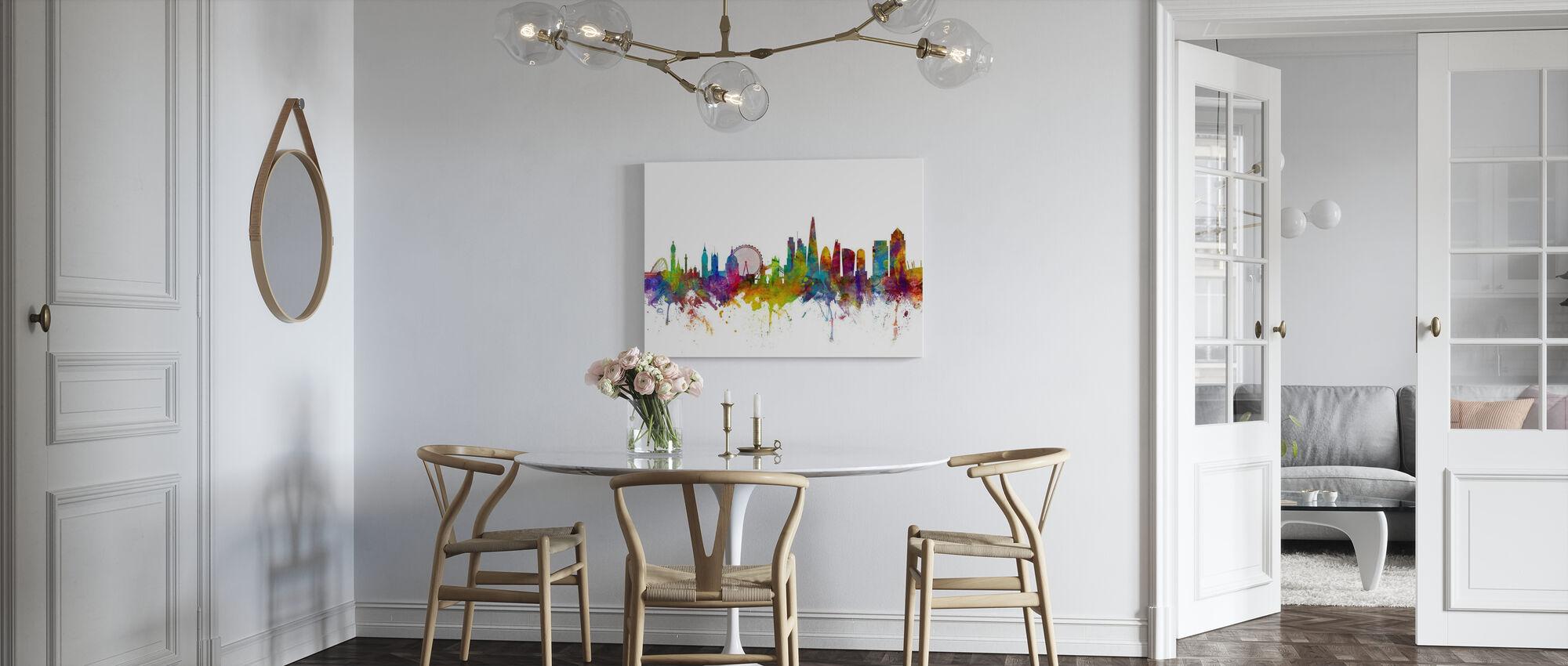 London Canary Wharf skyline - Canvas print - Kitchen