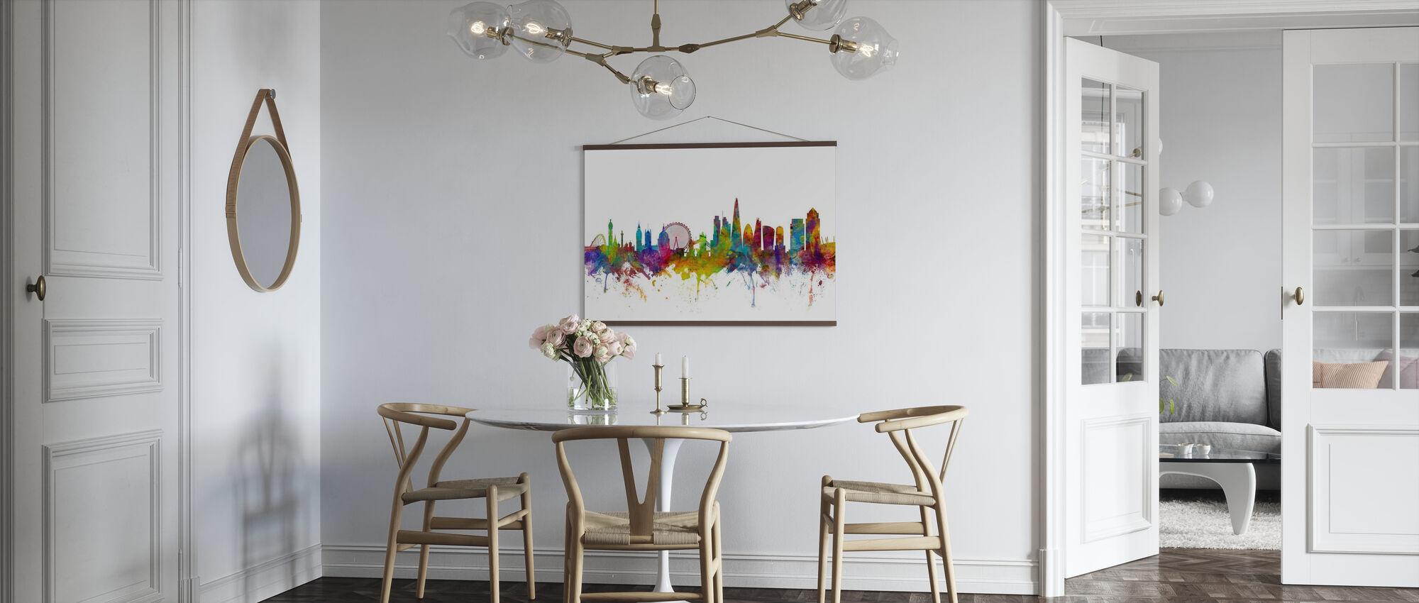 London Canary Wharf skyline - Poster - Keuken