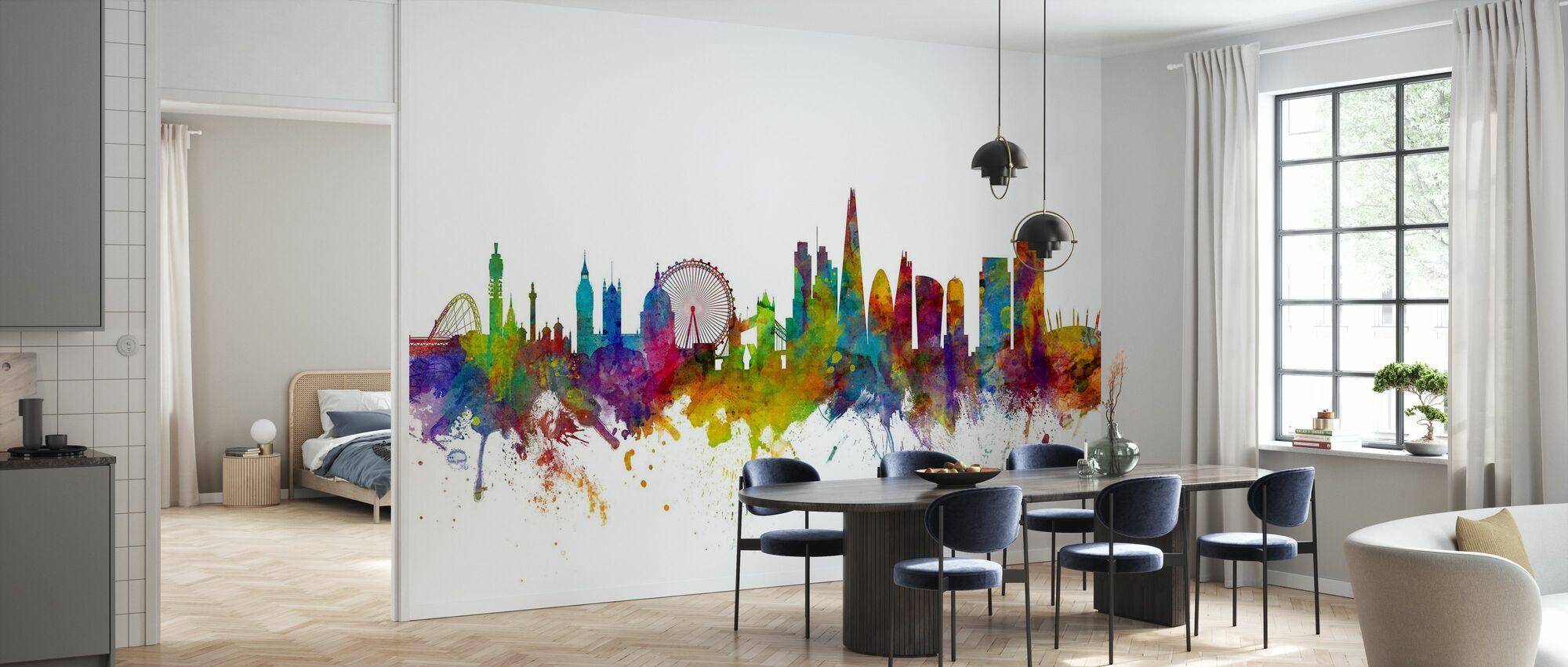 London Canary Wharf skyline - Tapet - Kjøkken