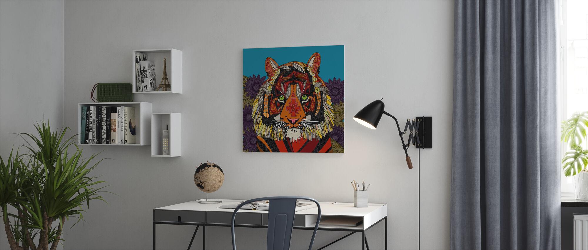 Tijger-opperhoofd - Canvas print - Kantoor