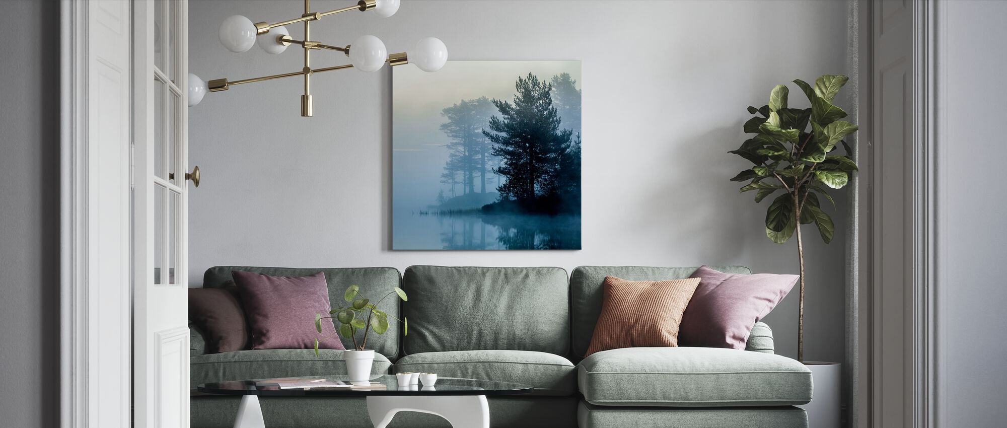 One Early Misty Morning - Canvas print - Living Room