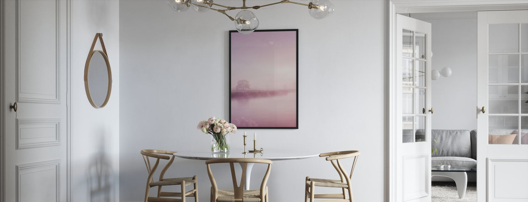 Rose Mist over de rivier de Boyne - Poster - Keuken