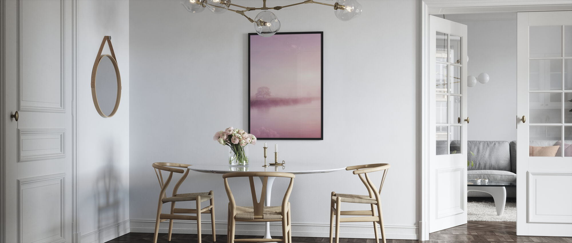 Rose Nebel über River Boyne - Poster - Küchen