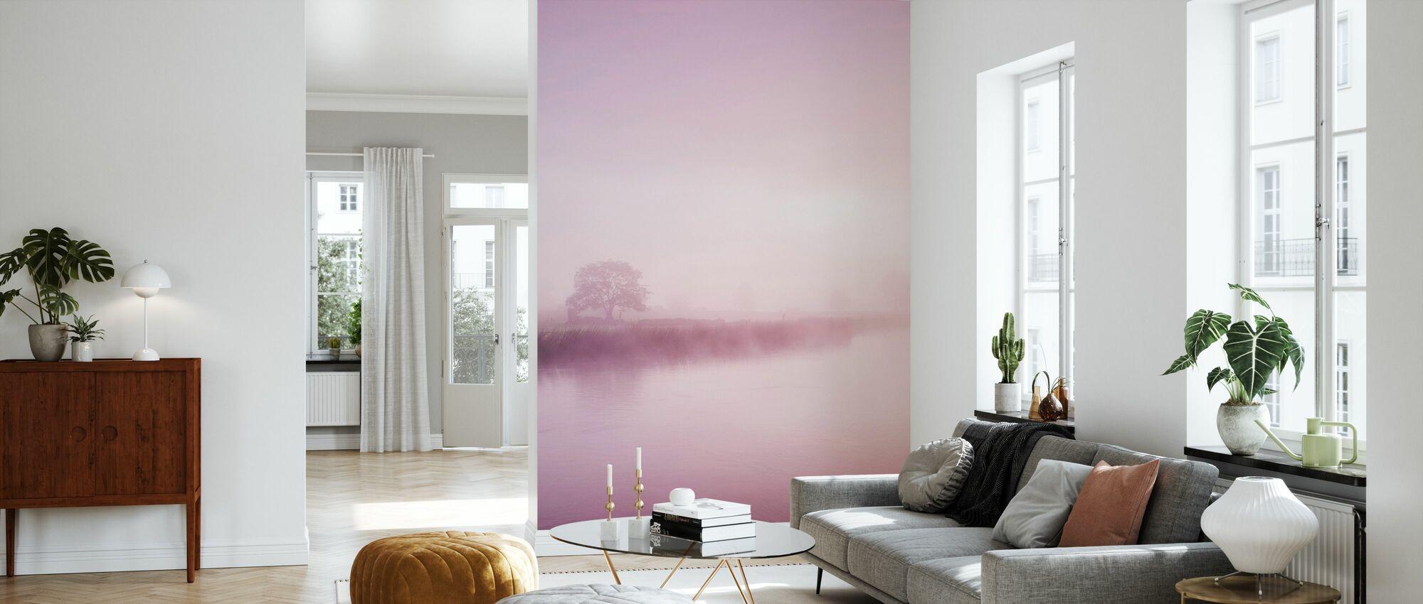Rose Mist over River Boyne - Wallpaper - Living Room