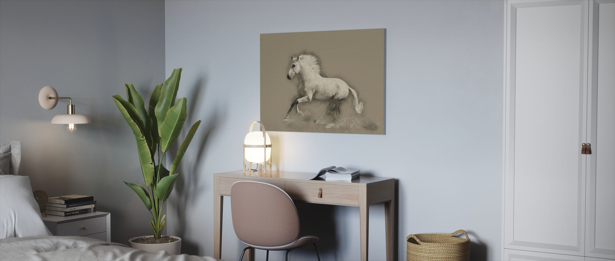 Horse Drawing - Canvas print - Office