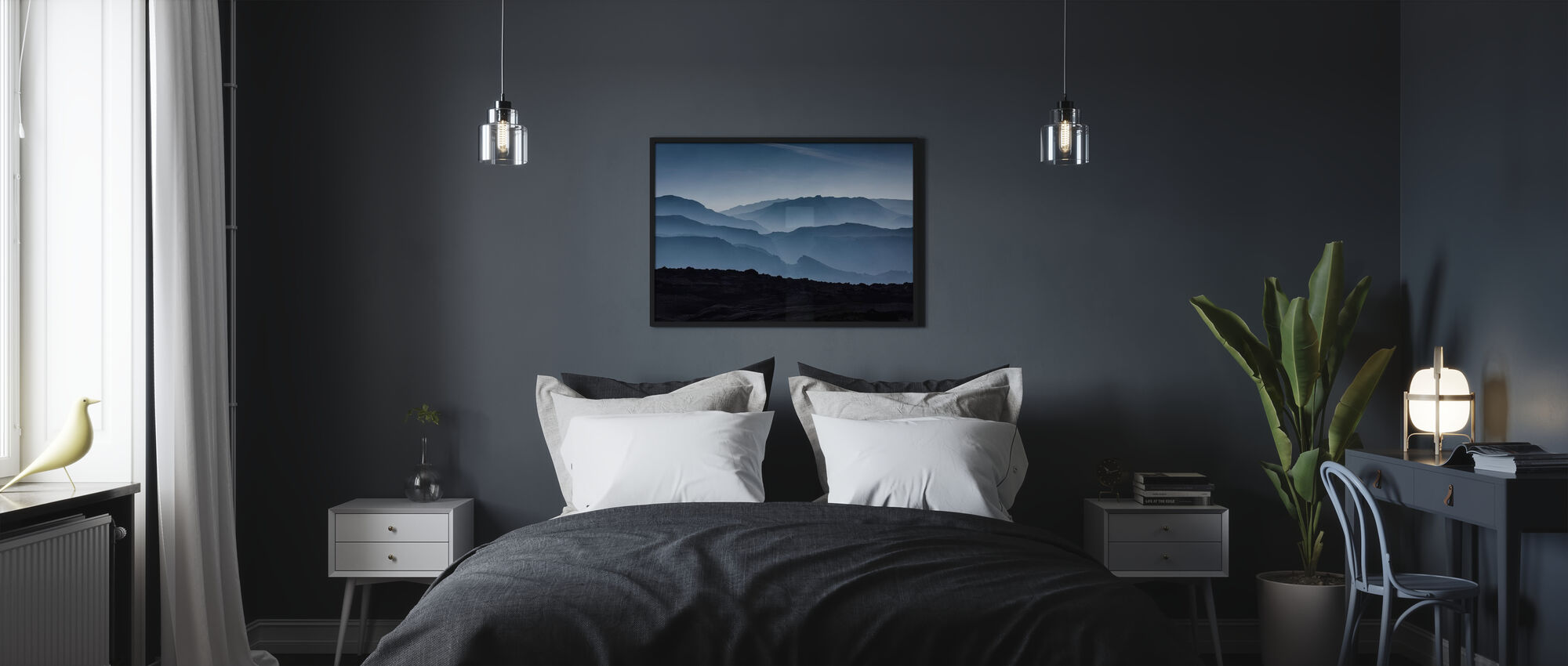 Icelandic Mountains - Framed print - Bedroom