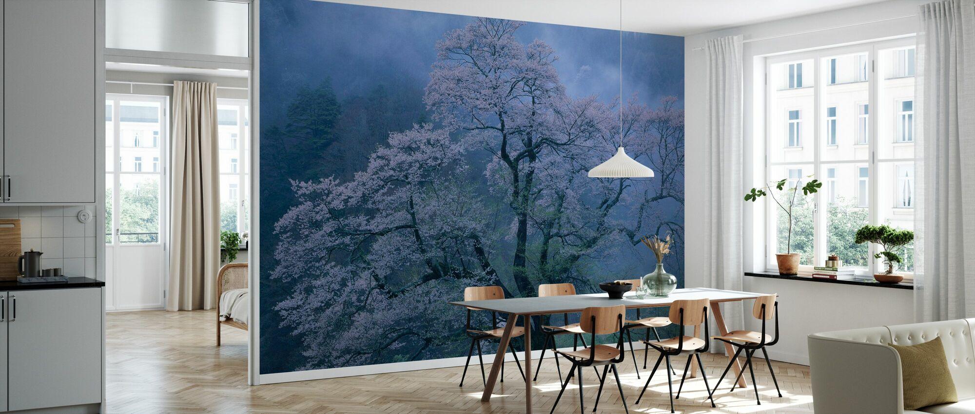 Mystical Cherry Blossoms - Wallpaper - Kitchen