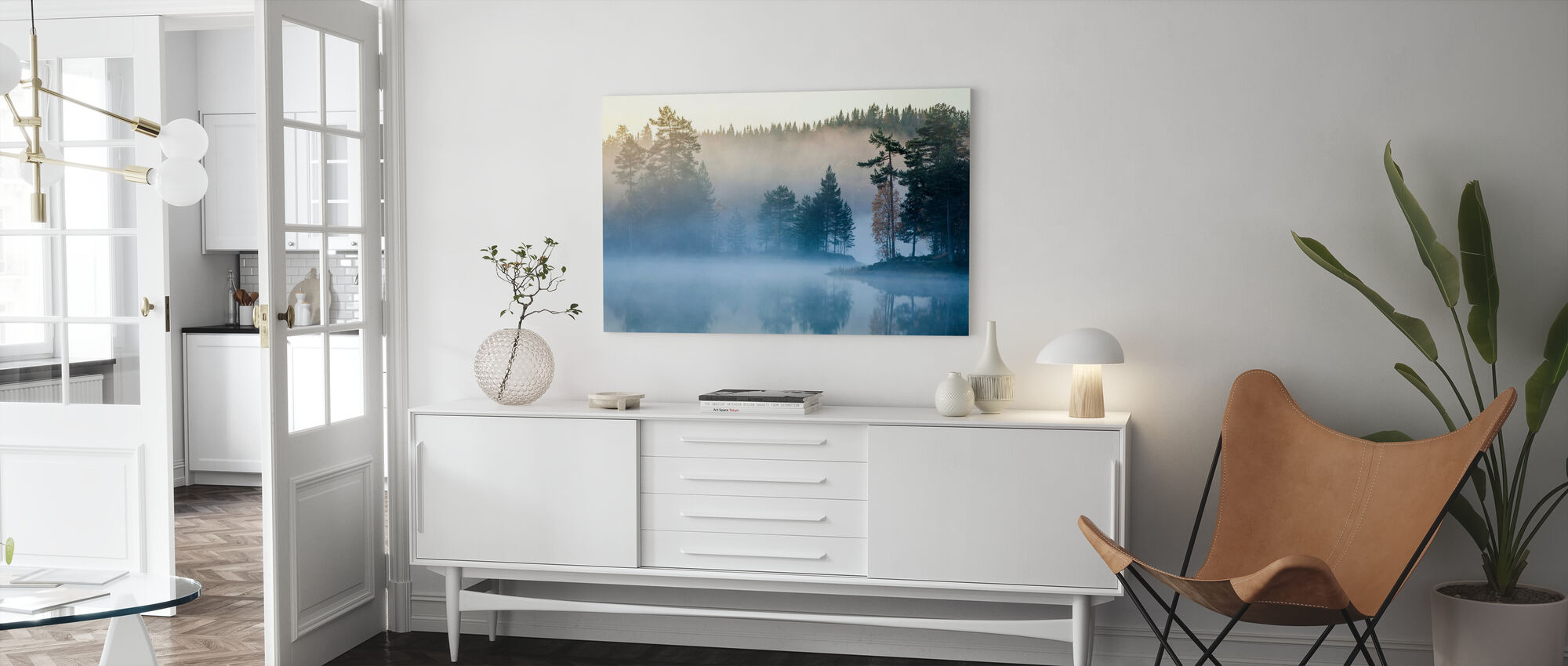 Norsk Mist - Canvastavla - Vardagsrum