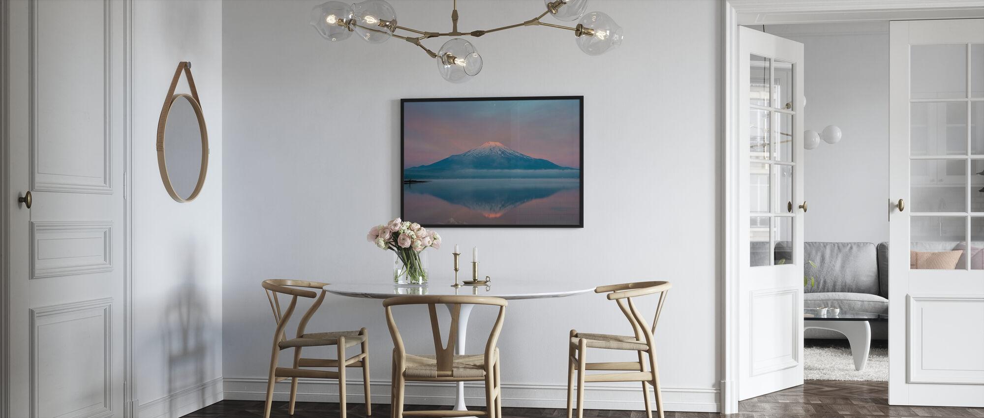 Kleur van zonsopgang - Ingelijste print - Keuken