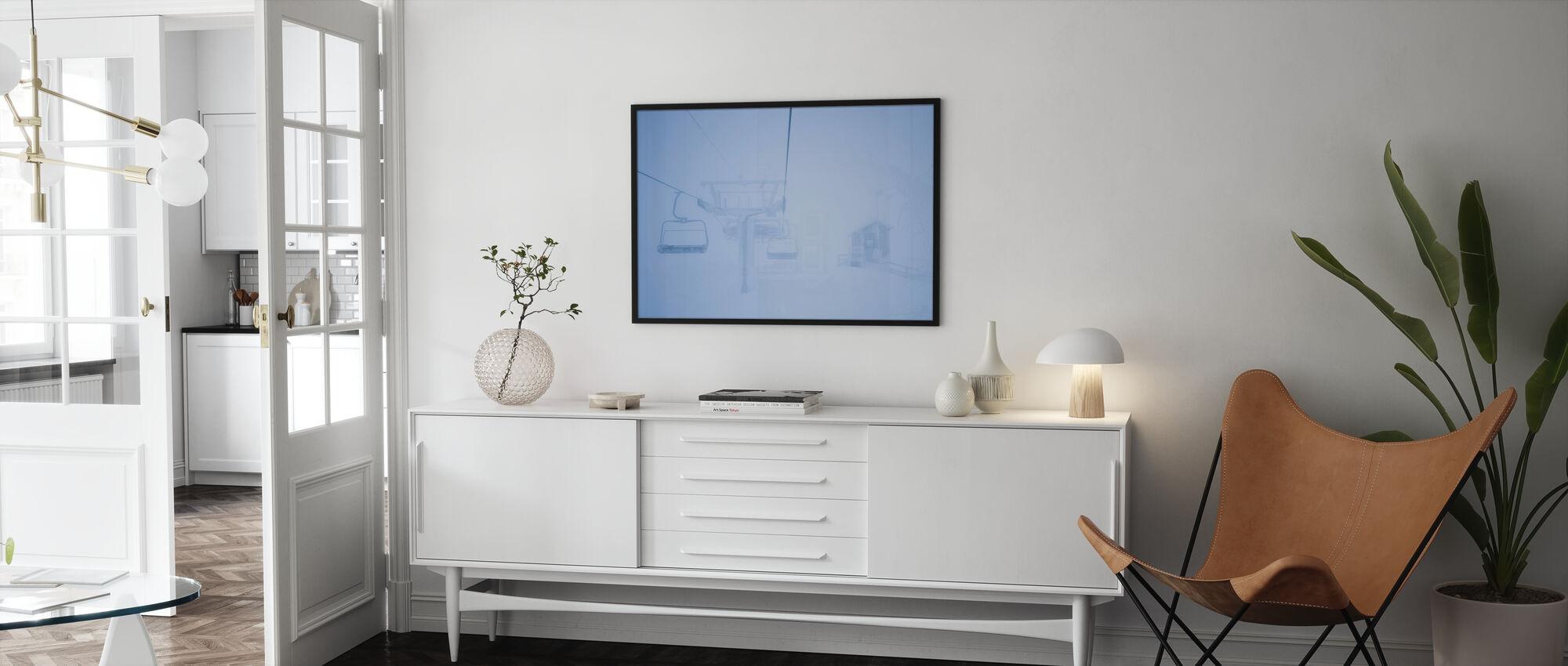 Empty Ski Lifts - Poster - Living Room