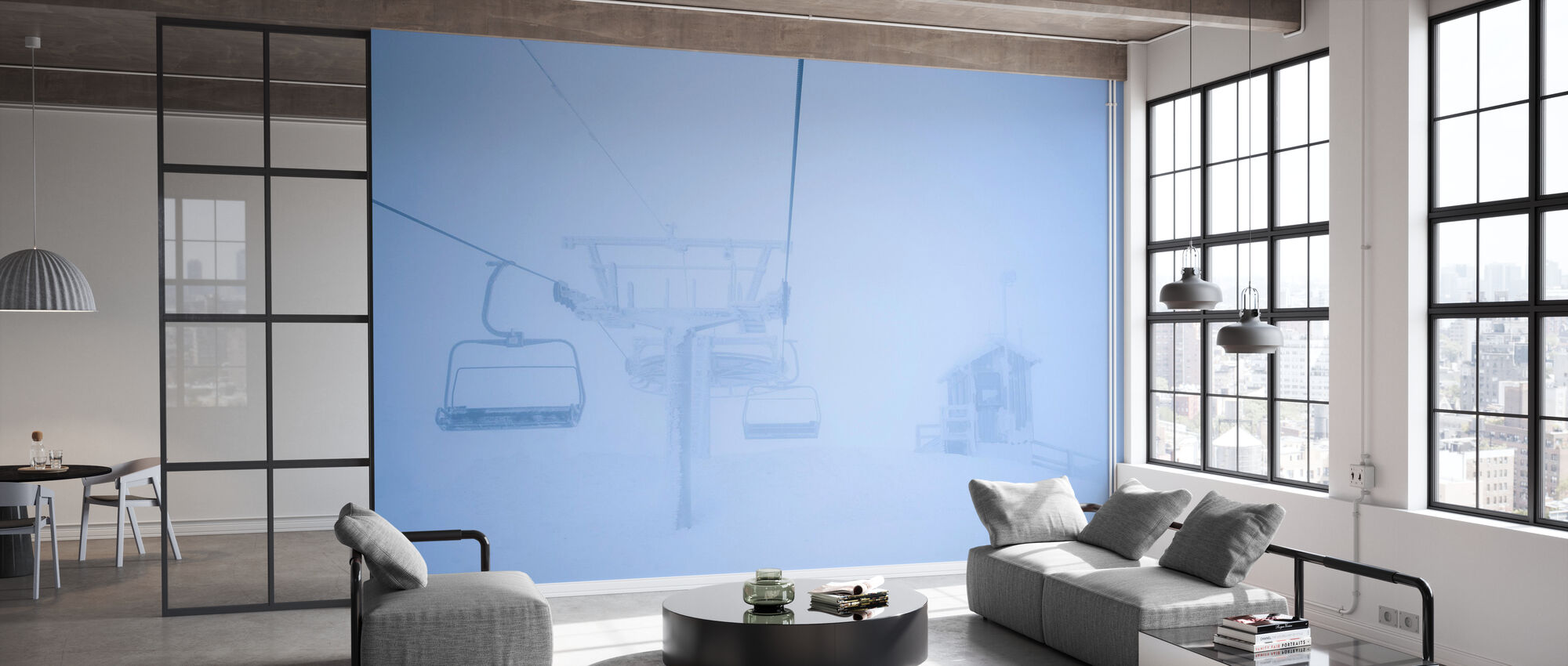 Empty Ski Lifts - Wallpaper - Office