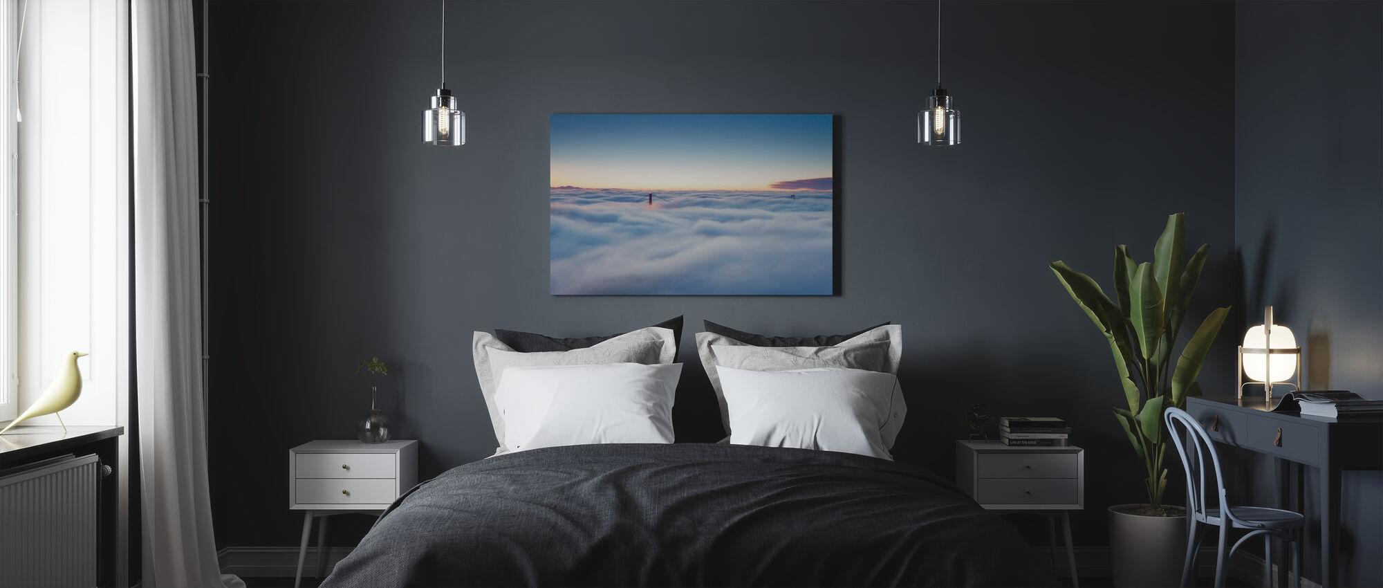 Fog over San Francisco - Canvas print - Bedroom