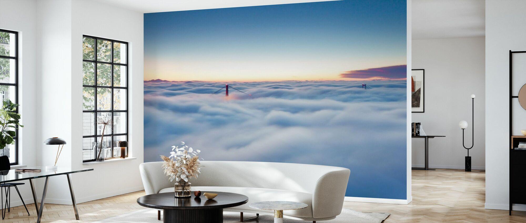 Fog over San Francisco - Wallpaper - Living Room