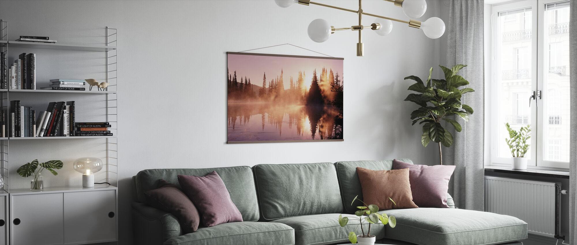 Fog Rising from Lake - Poster - Living Room