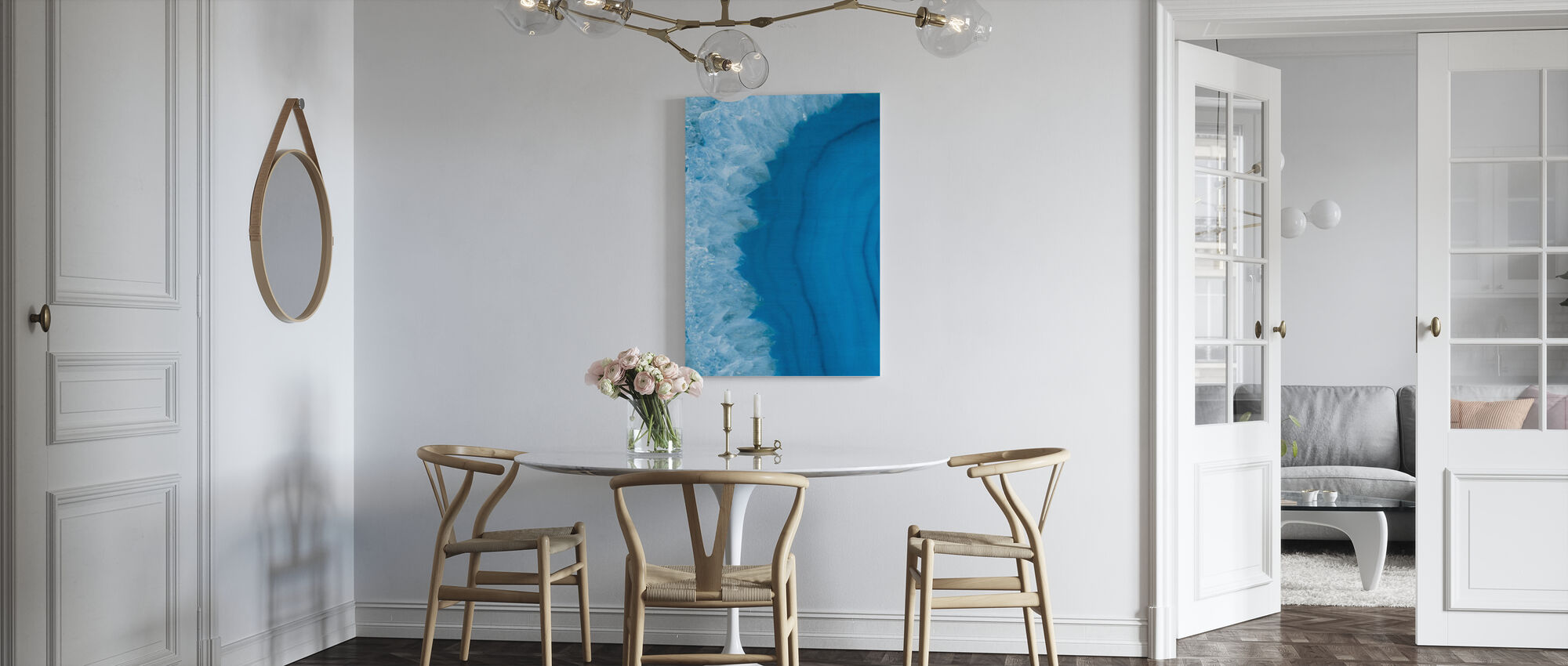 Agaat Geode I - Canvas print - Keuken