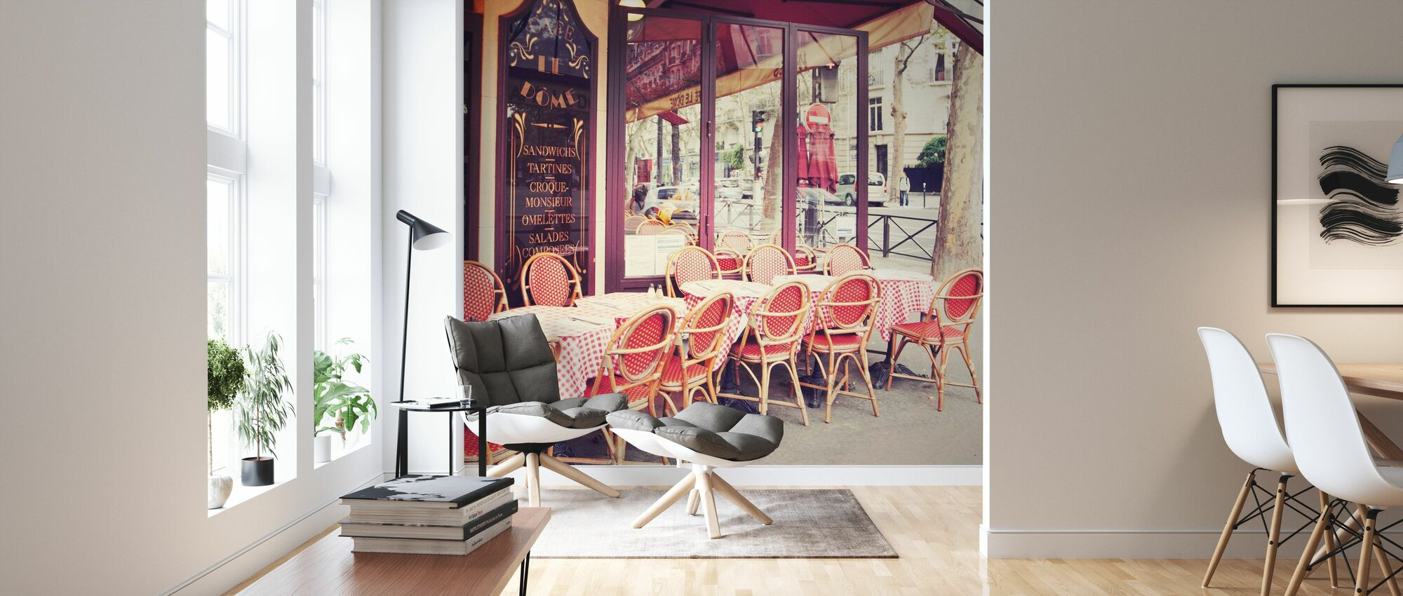 Cafe le Dome - Wallpaper - Living Room