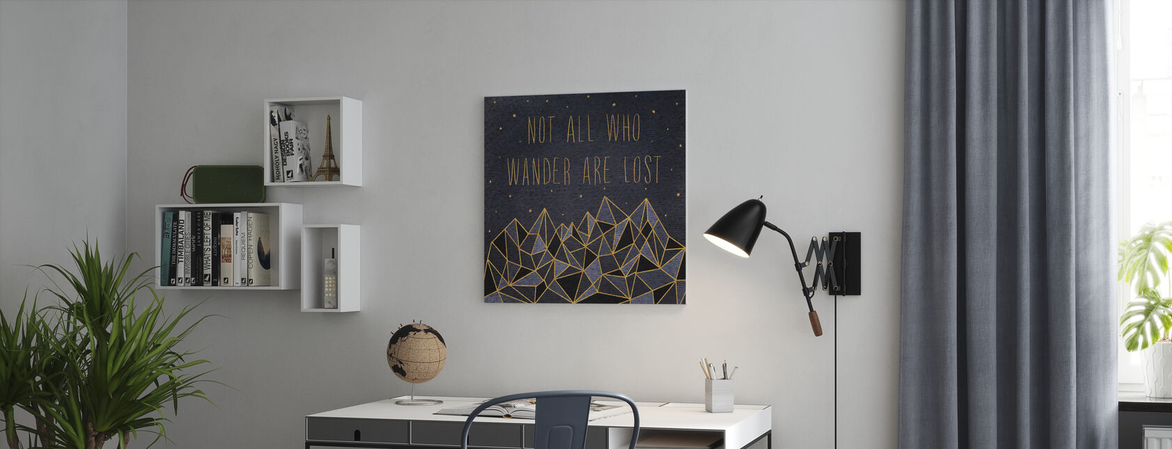 Written in the Stars IV - Canvas print - Office