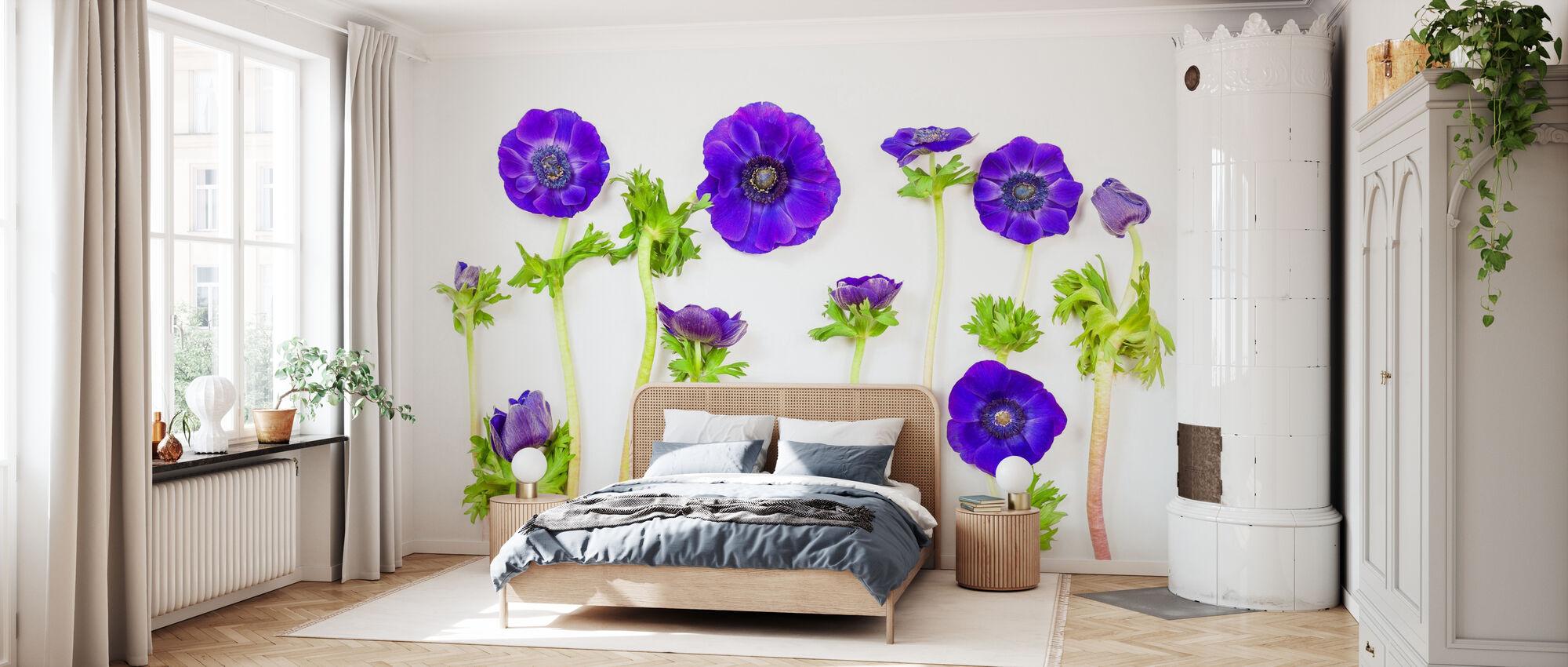 Beatiful Blue Anemons - Wallpaper - Bedroom