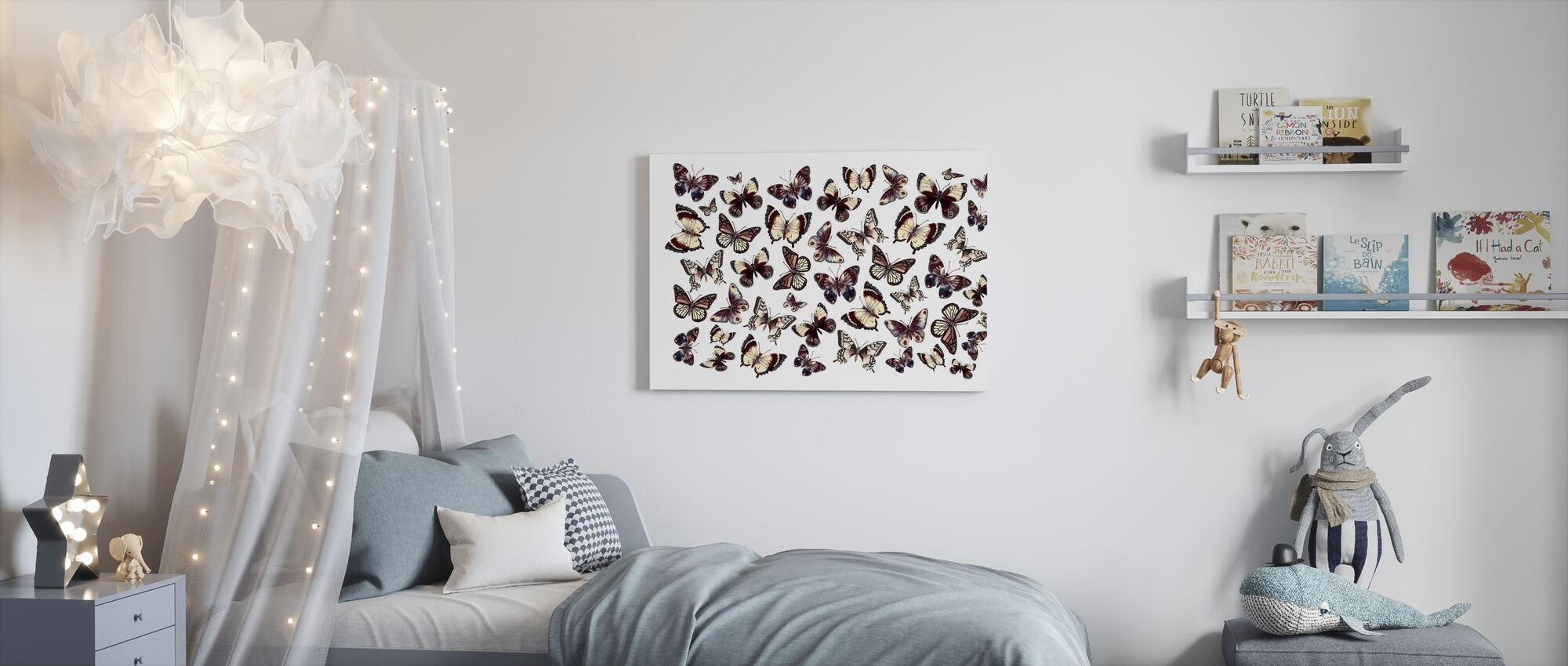 Vackra fjärilar - Canvastavla - Barnrum