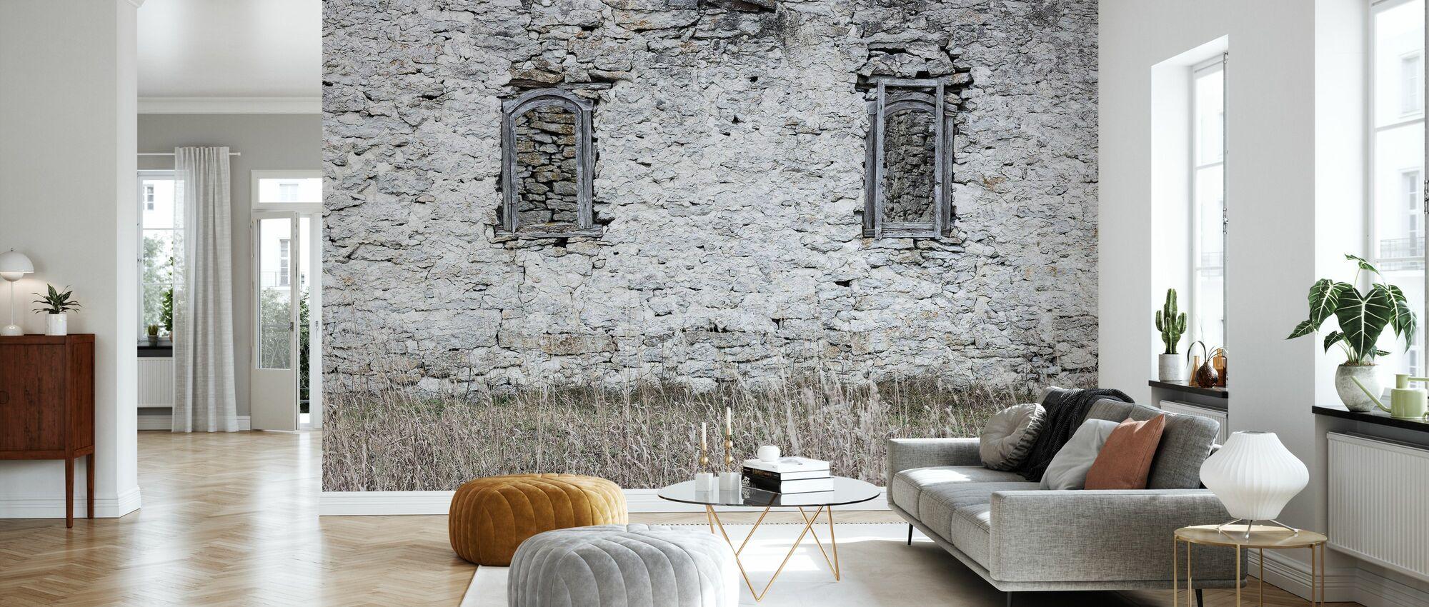 Old Stone Barn - Wallpaper - Living Room