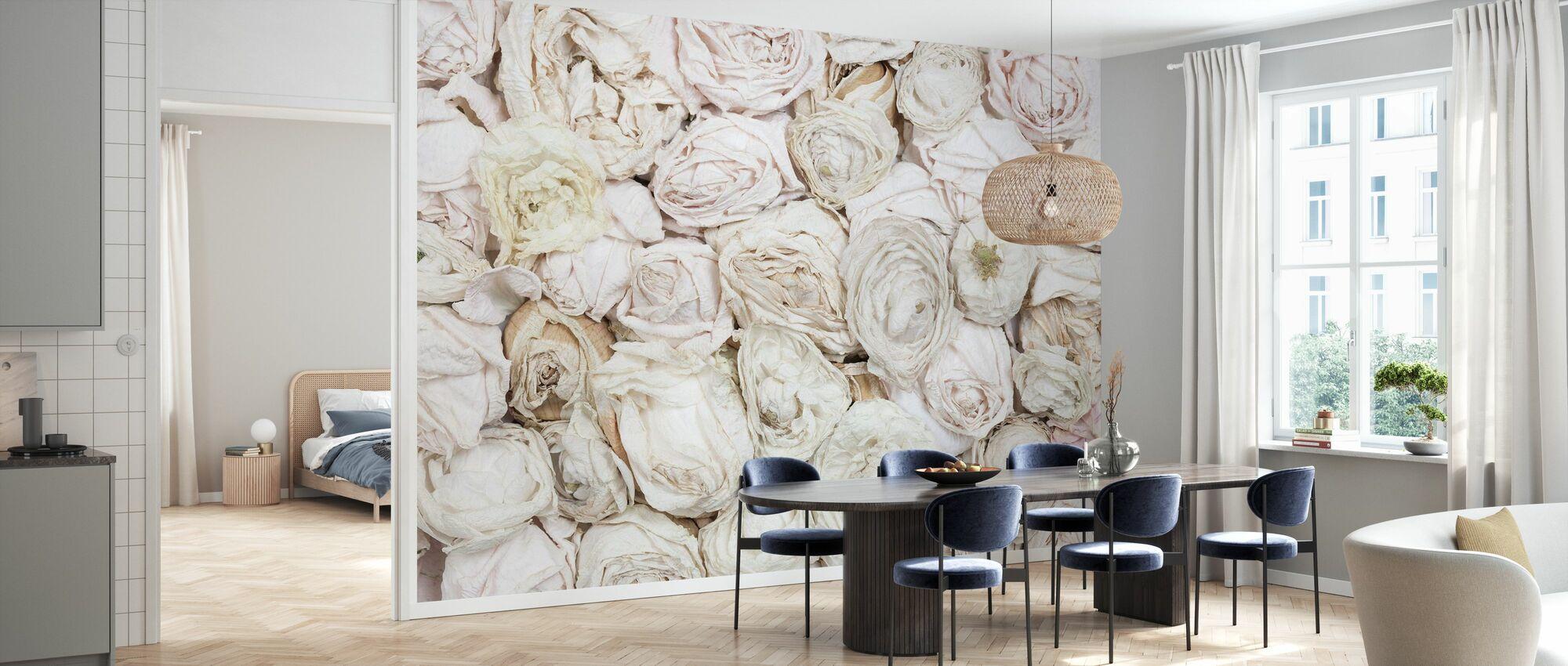 Old White Roses - Wallpaper - Kitchen