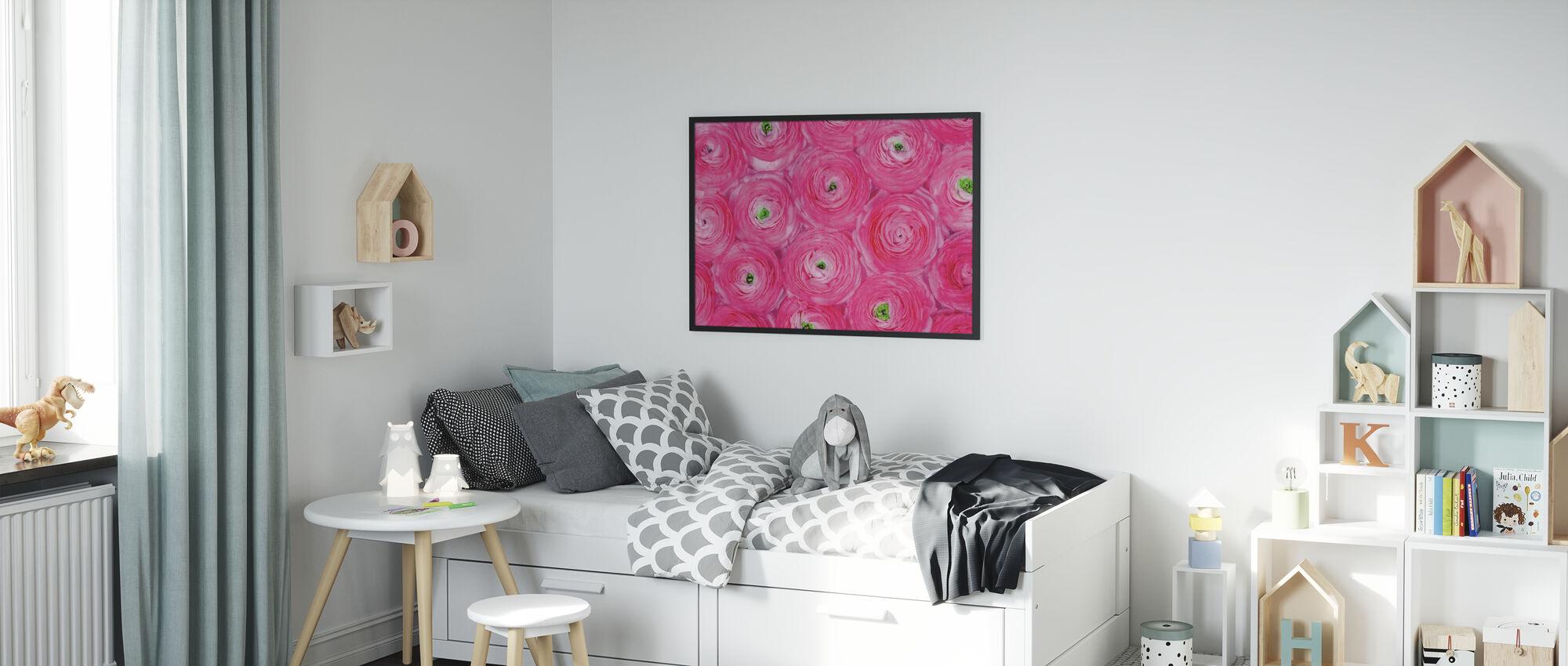 Pink Ranunculus - Poster - Kids Room