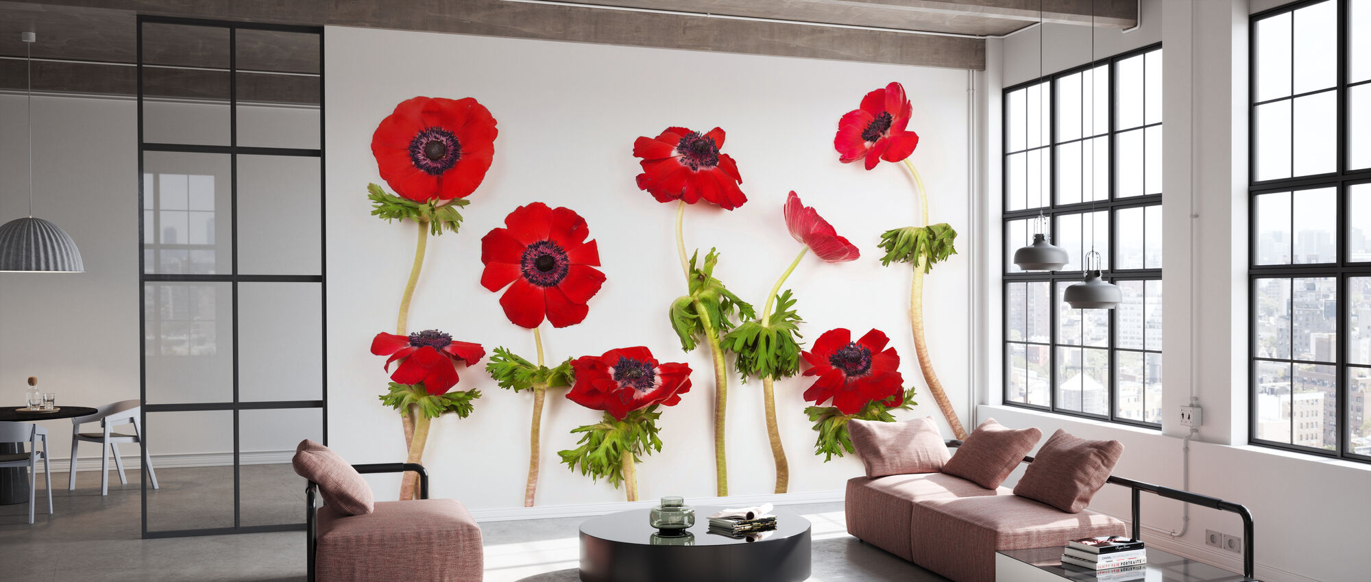 Red Anemons - Wallpaper - Office