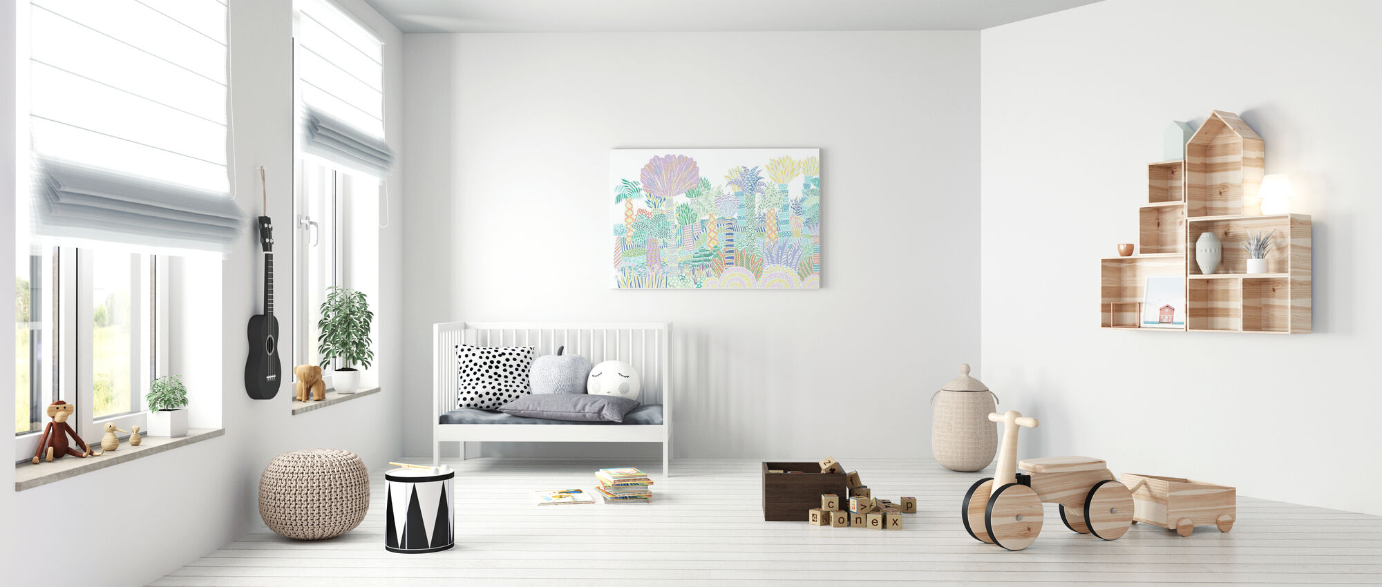 Jungle Multi - Canvas print - Babykamer