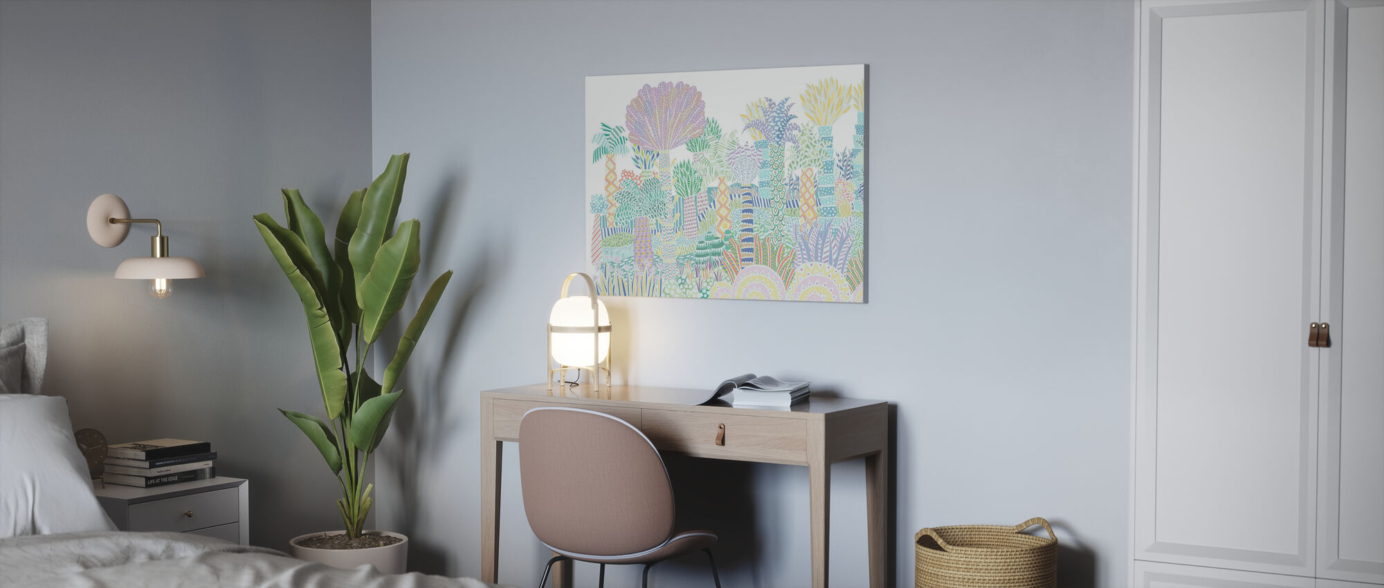 Jungle Multi - Canvas print - Office