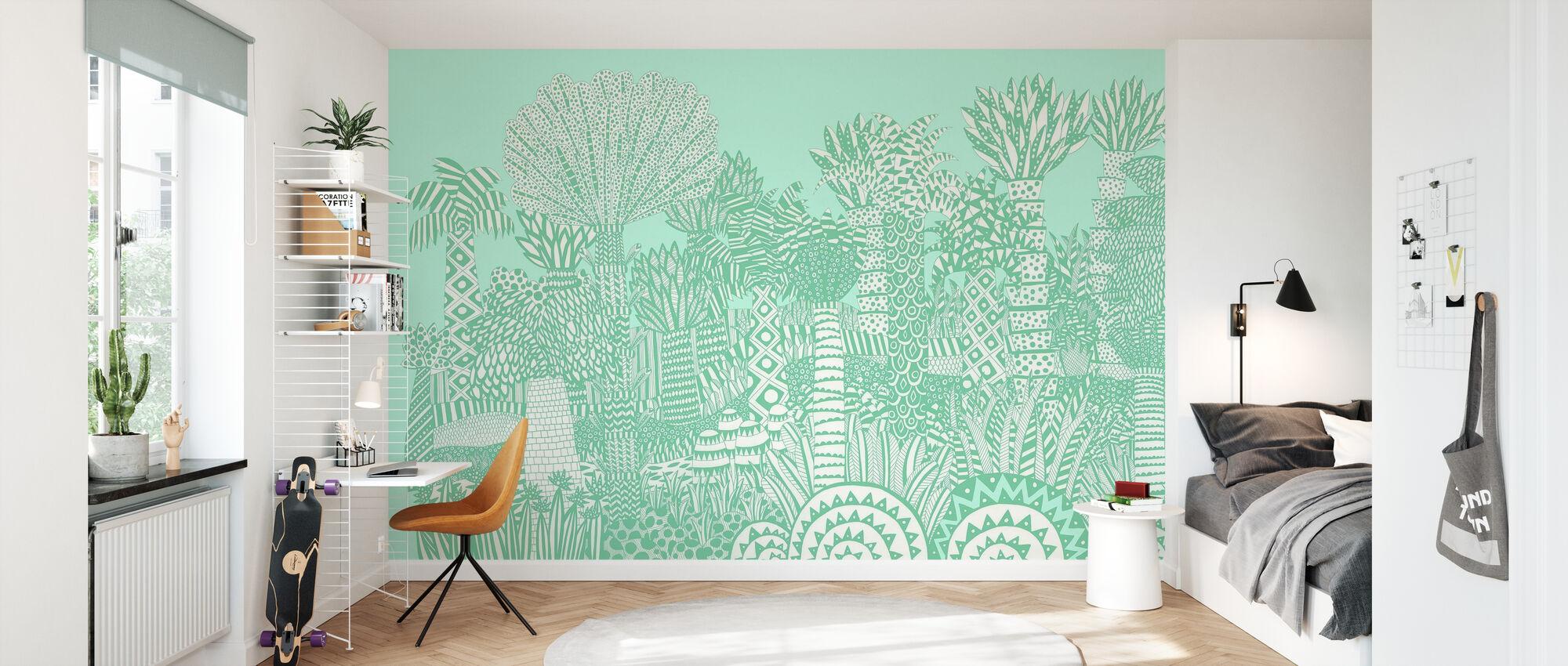 Jungle Groen - Behang - Kinderkamer