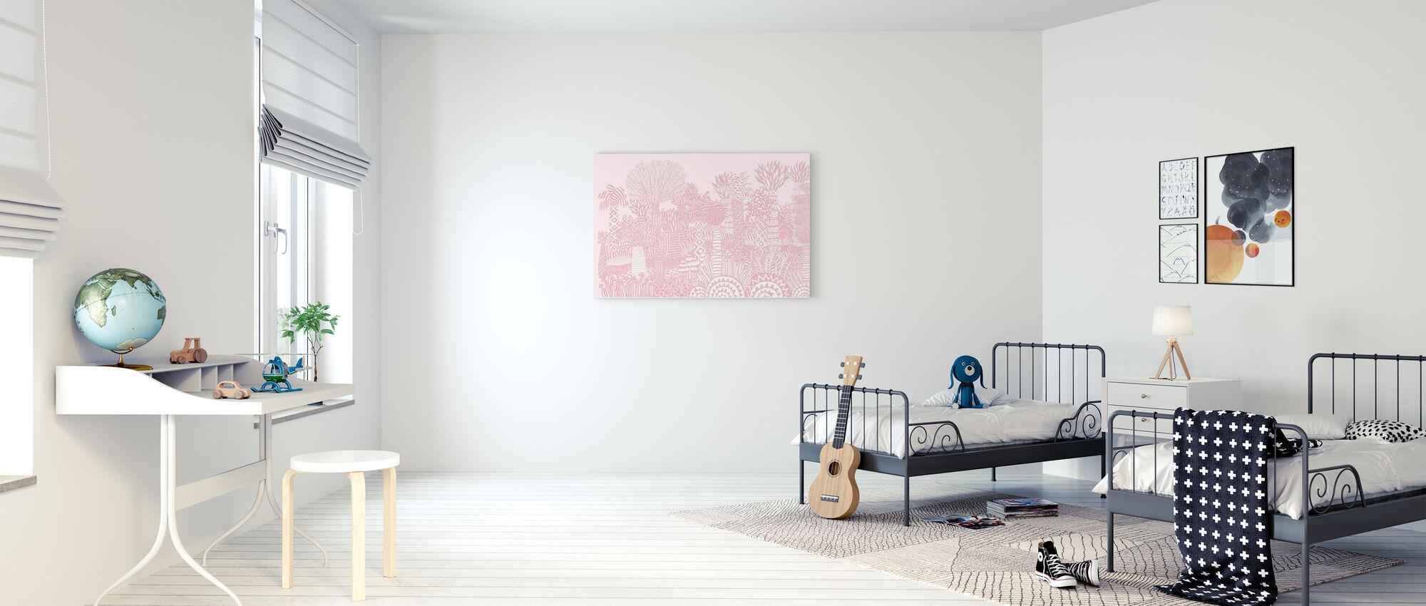 Jungle Roze - Canvas print - Kinderkamer