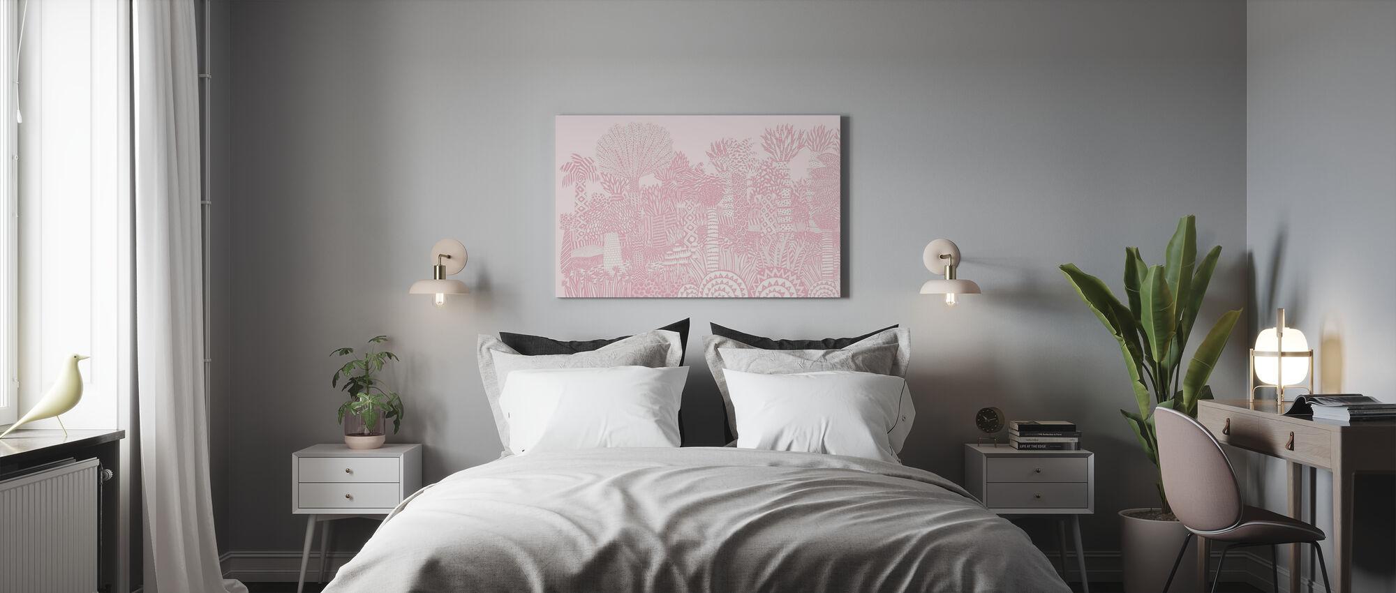 Jungle Pink - Canvas print - Bedroom